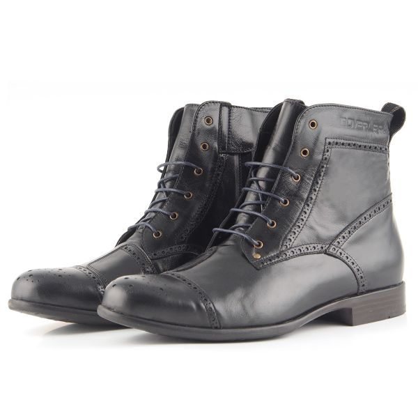 Motorcycle Shoes Overlap Richplace Black