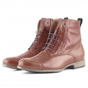 Motorcycle Shoes Overlap Richplace Brown