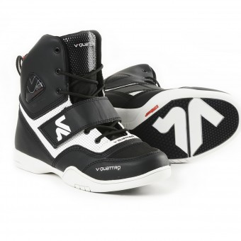 Motorcycle Trainers V'Quattro San Remo Black White