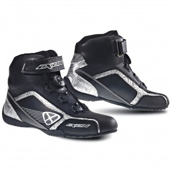Motorcycle Trainers Ixon Assault Lady Black Silver