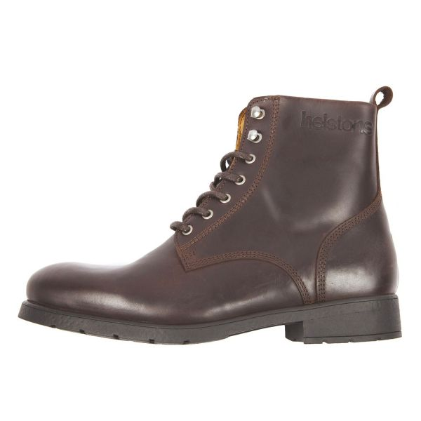 Motorcycle Shoes Helstons City Leather Brown