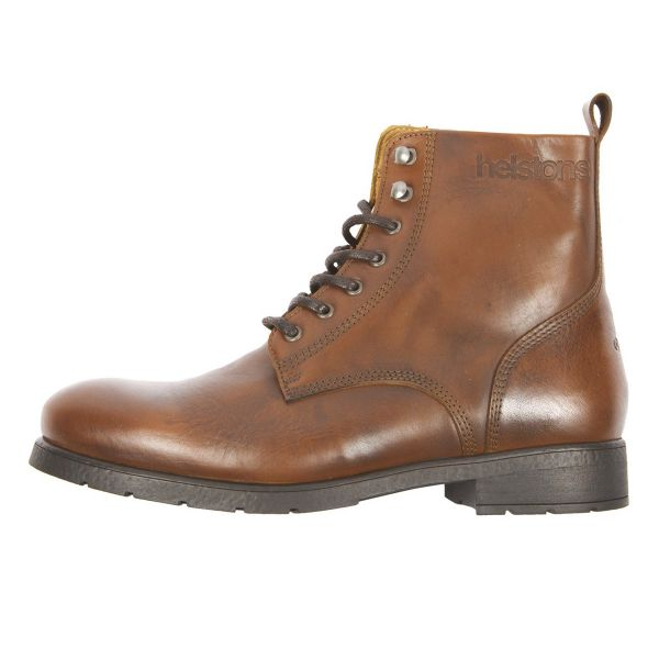 Motorcycle Shoes Helstons City Leather Tan