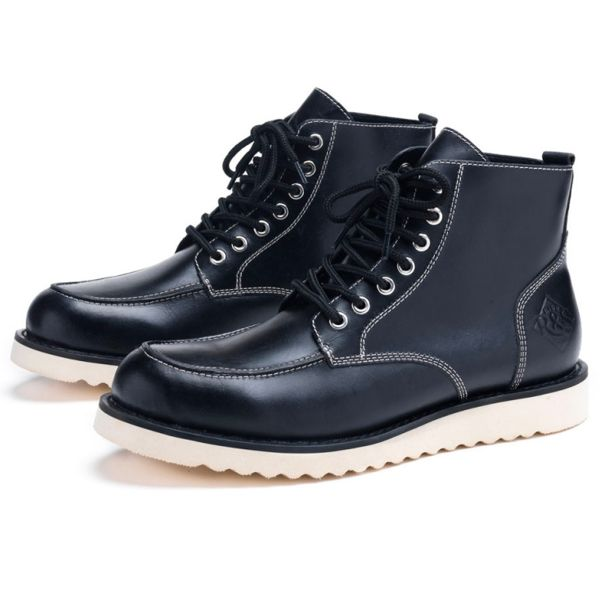 Motorcycle Shoes Ride & Sons Desert Moc Mid Boot Black