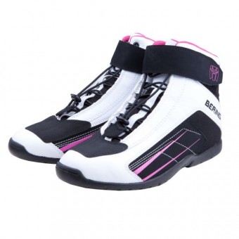 Motorcycle Trainers Bering Lady Azur White Fushia