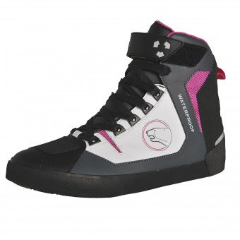 Motorcycle Trainers Bering Lady Swinton Grey White Fushia