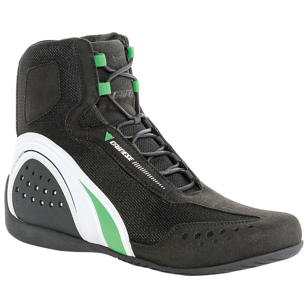 Motorcycle Shoes Dainese Motorshoe Air Black White Green Fluo