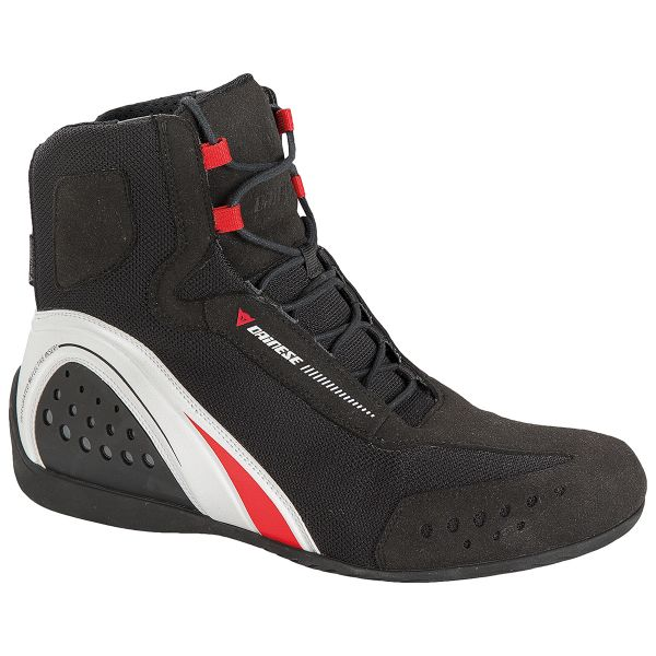 Motorcycle Shoes Dainese Motorshoe D-WP Black White Red