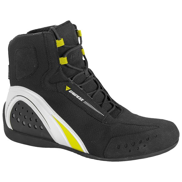 Motorcycle Shoes Dainese Motorshoe D-WP Black White Yellow Fluo