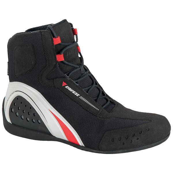 Motorcycle Shoes Dainese Motorshoe Lady D-WP Black White Red