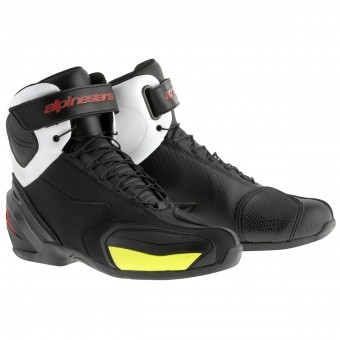 Motorcycle Shoes Alpinestars SP-1 Boot Black White Red Yellow Fluo