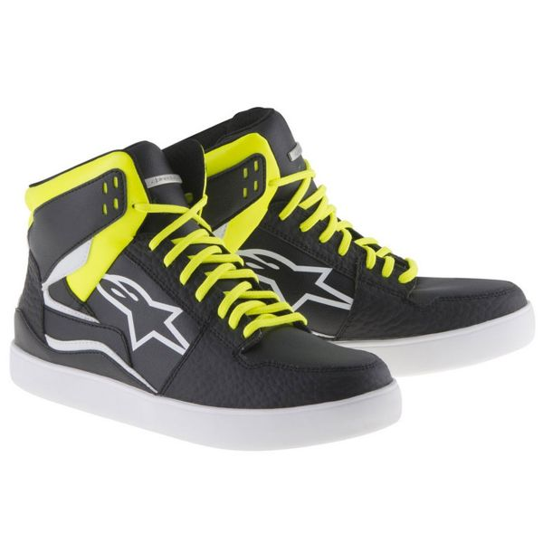 Motorcycle Trainers Alpinestars Stadium Black Yellow Fluo Red
