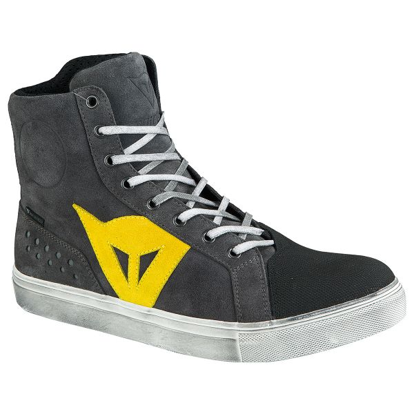 Motorcycle Shoes Dainese Street Biker D-WP Anthracite Yellow
