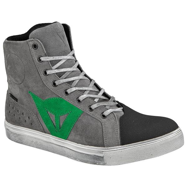 Motorcycle Shoes Dainese Street Biker D-WP Grey Green