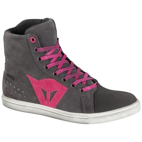 Motorcycle Shoes Dainese Street Biker Lady D-WP Anthracite Fuschia