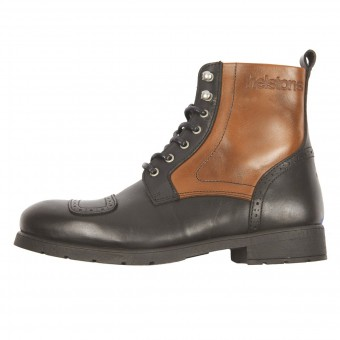 Motorcycle Shoes Helstons Travel Leather Black Tan