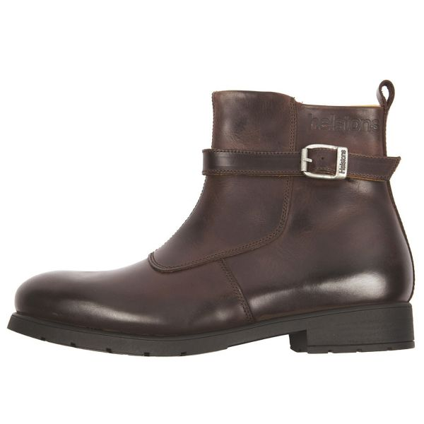 Motorcycle Shoes Helstons Urban Leather Brown