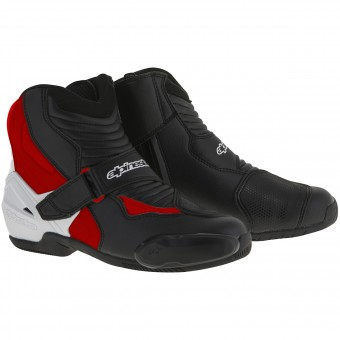Mid-Boots Alpinestars SMX-1 R Black White Red