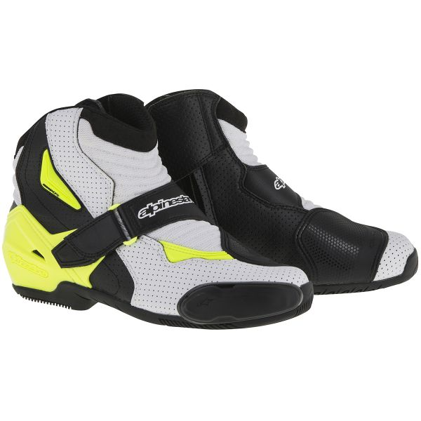 Mid-Boots Alpinestars SMX-1 R Vented Black White Yellow Fluo