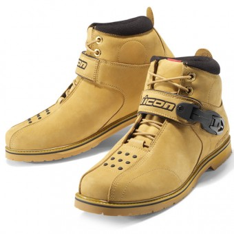 Motorcycle Shoes ICON Superduty 4 Wheat