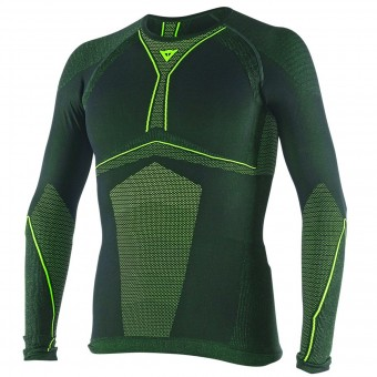 Base Layer Shirts Dainese D-Core Dry Tee LS Black Yellow