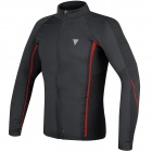 Base Layer Shirts Dainese D-Core No-Wind Thermo Tee Black Red