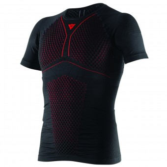 Base Layer Shirts Dainese D-Core Thermo Tee SS Black Red
