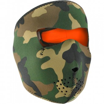 Masks Zanheadgear Woodland Camo Reversible Orange