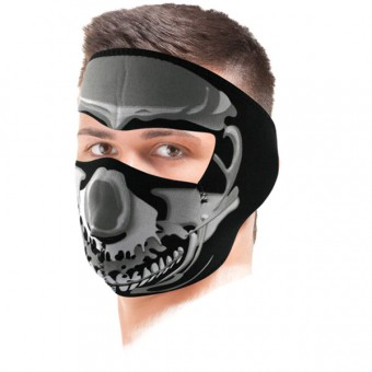 Masks Zanheadgear Chrome Skull Mask
