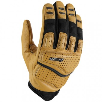 Motorcycle Gloves ICON Superduty 2 Tan