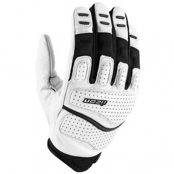 Motorcycle Gloves ICON Superduty 2 White