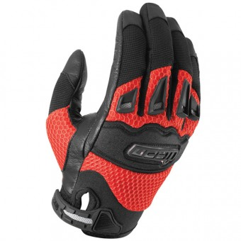 Motorcycle Gloves ICON Twenty-Niner Red