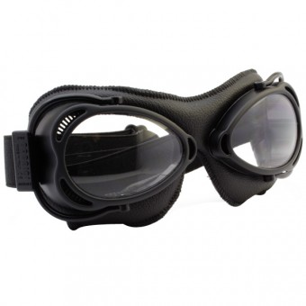 Motorcycle Goggles Nannini Streetfighter Black