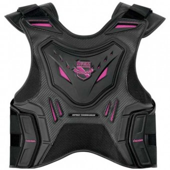 Back Protectors ICON Stryker Vest Black Pink Woman