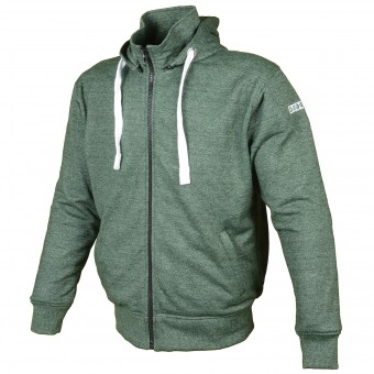 Motorcycle Jackets Booster Hoodie Kevlar Core Military Green