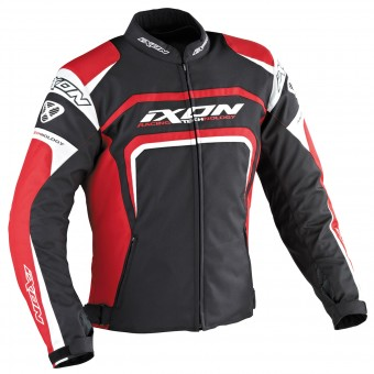 Motorcycle Jackets Ixon Eager Black White Red