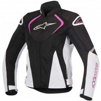 Motorcycle Jackets Alpinestars Stella T-Jaws V2 Air Black White Fuchsia