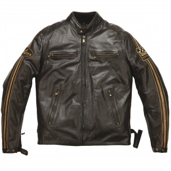 Motorcycle Jackets Helstons Ace Leather Rag Brown