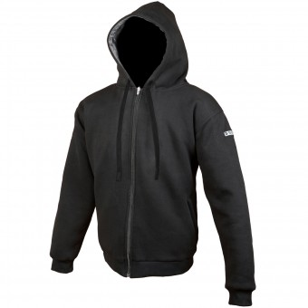 Motorcycle Jackets Booster Hoodie Kevlar Core Black
