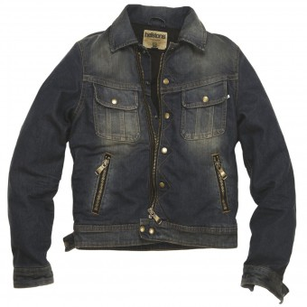 Motorcycle Jackets Helstons Cannonball Cotton Denim Dirty
