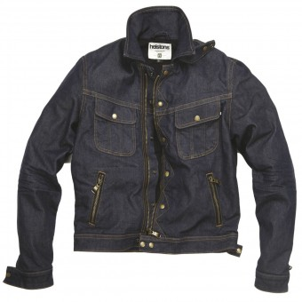Motorcycle Jackets Helstons Cannonball Cotton Denim Raw