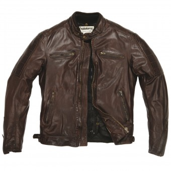 Motorcycle Jackets Helstons Cruiser Leather Rag Brown