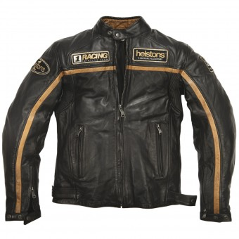 Motorcycle Jackets Helstons Daytona Leather Rag Black