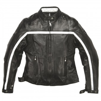 Motorcycle Jackets Helstons Daytona Woman Leather Rag Black