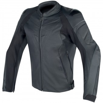 Motorcycle Jackets Dainese Fighter Leather Black