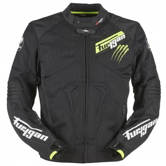 Motorcycle Jackets Furygan Hurricane Vented Black Yellow Fluo