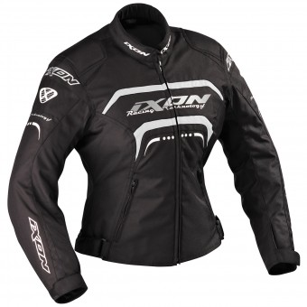 Motorcycle Jackets Ixon Lover Black White Silver