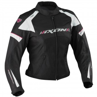 Motorcycle Jackets Ixon Sierra Black White Fushia