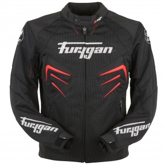 Motorcycle Jackets Furygan Skull Vented Black Red White