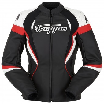 Motorcycle Jackets Furygan Xenia Racing Lady Black White Red