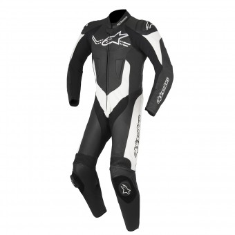 Leather Motorcycle Suits Alpinestars Challenger V2 Black White
